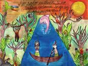 Afiche ganador del Concurso de Afiches Escolares. Autora: María Samanta Parra Muñoz (Colombia)