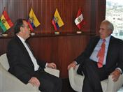 Reunión entre los Secretarios Generales de la Comunidad Andina (CAN), Pablo Guzman, y de la Unión de Naciones Suramericanas (UNASUR), Ernesto Samper.