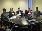 En este sesión de trabajo participaron funcionarios de la Secretaría General de la Comunidad Andina.