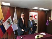 Memorando de Entendimiento fue suscrito por el Secretario General de la CAN, Walker San Miguel y por el Director Regional para América de la FICR, Walter Cotte