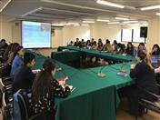 La Directora de la CAN, Luz Marina Monroy fue la encargada de dar la bienvenida a los estudiantes.