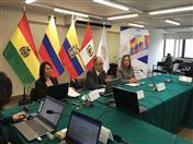 La reunión es moderada por Guillermo Quiroz, representante de la secretaría del COMALEP y Coordinador del Foro del Comité Iberoamericano de Nomenclatura.