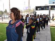 A pocos días de la Navidad, los niños del colegio Bolivia, del distrito de Villa El Salvador en el Perú, visitaron la Secretaría General de la Comunidad Andina.