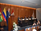 Allan Wagner, quien agradeció la distinción recibida y recordó la labor que realizó en la Secretaría General de la CAN, reafirmó su firme compromiso con el proceso andino de integración y resaltó su importancia.