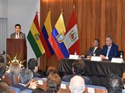 Durante su discurso, Walker San Miguel destacó que cuando Allan Wagner se desempeñó como Secretario General de la CAN promovió un nuevo Diseño Estratégico para la integración andina.