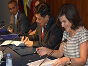 Firma de Convenio de Cooperación Técnica CAF-SGCAN