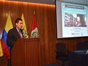 Presentación sobre la evaluación de daños, a cargo del ingeniero José Velásquez