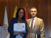 Entrega de certificados a los practicantes de la Dirección General 2