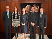 Ministros de Relaciones Exteriores de Bolivia, Colombia, Ecuador y el Perú junto con el Secretario General de la CAN
