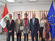 CAN reconoce labor de Embajadora de la Unión Europea en el Perú, Irene Horejs