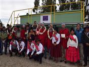 Representantes de los países de la CAN y beneficiarios de obra implementado gracias a INPANDES.