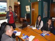 Tema: normativa comunitaria andina, a cargo de la funcionaria Mónica Arias.