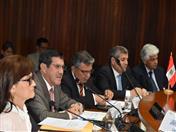 Representantes de Cancillería del Perú, INDECI, CEPlAN y CENEPRED.