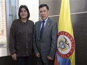Reunión con la Ministra de Comercio, Industria y Turismo, María Lorena Gutiérrez.