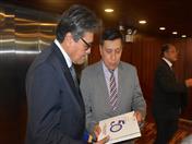 Secretario General de la Comunidad Andina, Walker San Miguel y Ministro de Salud del Perú, Abel Salinas.