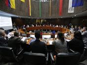 Reunión de Ministros de Salud de la región, cuyo tema central fue la Tuberculosis, se realizó en la Secretaría General de la CAN (Foto: Minsa Perú)