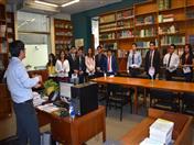 Visita a la Andinoteca de la Secretaría General de la Comunidad Andina.