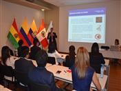 Exposición Normas de origen en la Comunidad Andina a cargo del funcionario Ernesto Medina.