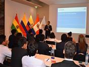 Exposición Pymes andinas: integración productiva y fortalecimiento a cargo del funcionario Huascar Ajata.