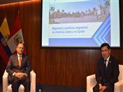 Secretario Permanente del SELA, Javier Paulinich y Secretario General de la Comunidad Andina, Walker San Miguel
