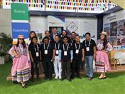 Productores en el stand de la Comunidad Andina.