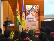 Expositor Freddy Caballero de Bolivia
