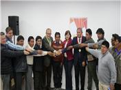 Participó la Autoridad Autónoma Binacional del Lago Titicaca, alcaldes y beneficiarios bolivianos y peruanos así como el Gobierno Provincial de Carchi, autoridades locales y beneficiarios del proyecto INPANDES (Foto: Prefectura Carchi)