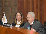 Por el Perú, participó el Director General de Comunidades Peruanas y Asuntos Consulares de Cancillería, Enrique Bustamante y representantes de Superintendencia Nacional de Migraciones del Perú.