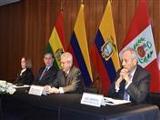 Conferencia de Prensa de autoridades de los países andinos.