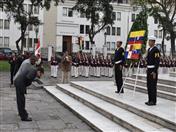 Ofrenda Floral de los Países Bolivarianos.