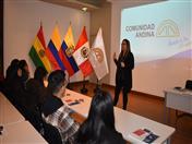 Bienvenida  a cargo de la Secretaria General (a.i) de la CAN, Luz Marina Monroy.