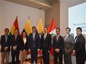 Secretario General de la CAN y autoridades de los países andinos y de Rusia, participantes en encuentro.