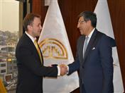 Secretario General con el Jefe de la Sección de Cooperación Internacional de la Comisión Económica Euroasiática, Dmitry Ezhov.