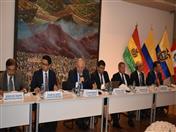 Representantes de las Embajadas de la CAN y de la Secretaría General de la Comunidad Andina.