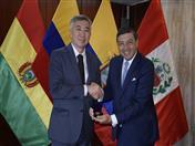 Secretario General de la Comunidad Andina, Jorge Hernando Pedraza recibió al Ministro de la Competencia y Reglamento Antimonopolio de la Comisión Económica Euroasiática, Serik Zhumangarin.