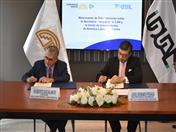 Secretario General de la CAN, Jorge Hernando Pedraza y su homólogo de UDUAL, Roberto Escalante.