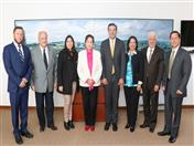 Con las autoridades académicas de la Universidad de Boyacá