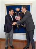 Con el Alcalde de Tunja, Pablo Emilio Cepeda