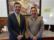 Con el Gobernador de Boyacá, Carlos Amaya