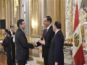 Saludo al Presidente Martín Vizcarra. (Fotos: Presidencia Perú)