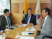 Reunión con Ministro de Obras Publicas, Aurelio Hidalgo