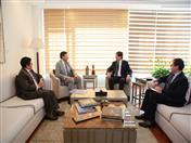 Reunión con Canciller del Ecuador, José Valencia