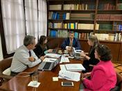 Reunión con la Viceministra de Comercio, Laura Valdivieso.