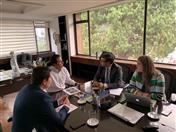 Reunió con el Director del Instituto Nacional de Vías – Invías, Juan Esteban Gil.