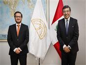 Reunión con el Ministro de Comercio Exterior y Turismo del Perú, Edgar Vásquez.