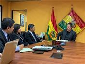 Reunión con el Ministro de Minería y Metalurgia, César Navarro.
