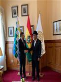 Reunión con el Ministro de Relaciones Exteriores, Diego Pary.