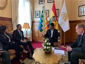 Reunión con el Ministro de Relaciones Exteriores, Diego Pary y el Viceministro de Comercio Exterior e Integración, Benjamín Blanco.