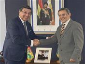 Reunión con el Ministro Consejero de la Embajada de Bolivia en Washington, Alejandro Bilbao.