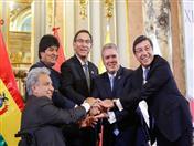 Presidentes de países de la CAN y Secretario General de la Comunidad Andina, Jorge Hernando Pedraza.